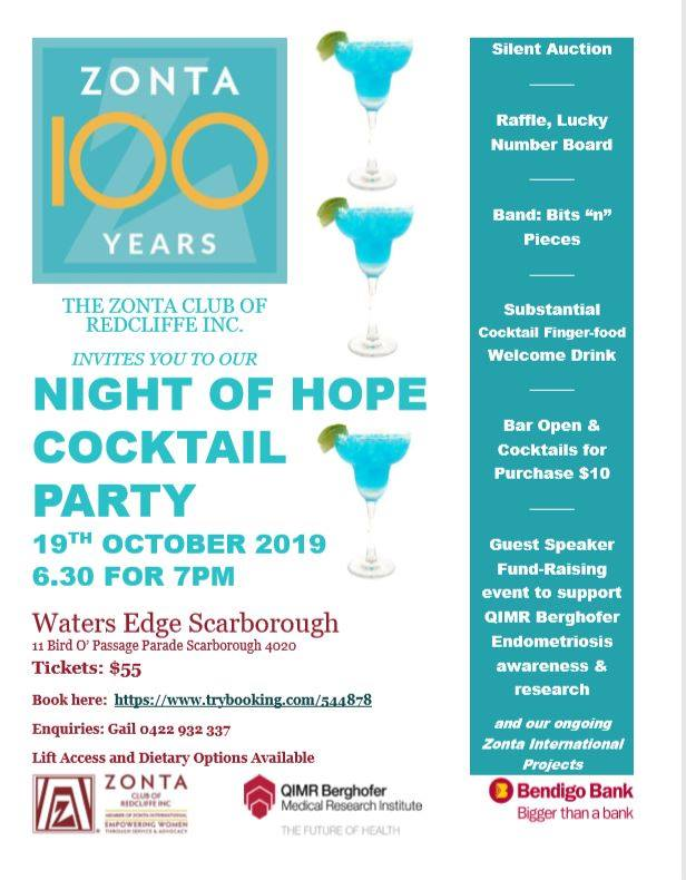 Night of Hope Cocktail Party - Scarborough @ Waters Edge Scarborough | Scarborough | Queensland | Australia